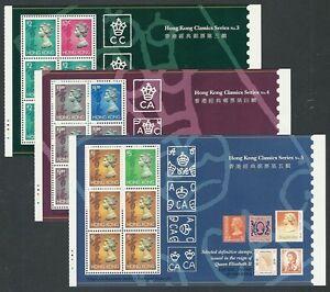 Hong Kong China, 1994 History Classics Stamp Miniature Sheetlets No. 3,4,5, MNH