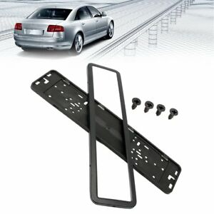 Image is loading Universal-Car-License-Plate-Holder-Frame-European-UK-  sc 1 st  eBay & Universal Car License Plate Holder Frame European UK EU German ...