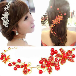 Bridal Wedding Headdress Rhinestone Beaded Hair Accessories Bride Headdress