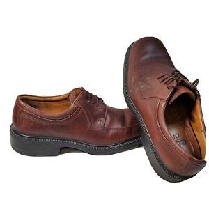 ECCO-Oxford-Apron-Toe-Mens-Brown-Leather-Lace-Up-Shoes-Size-EU-47-US-9-5