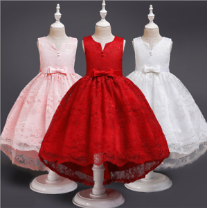 Girls Ball Gown Dress Wedding Princess Bridesmaid Party Prom Birthday Dresses ZG