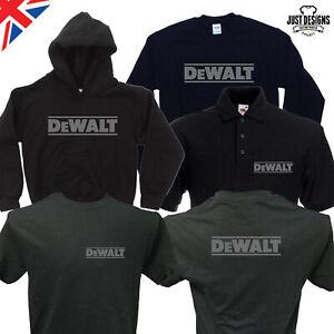 Tools Navy T-shirt Hoodie Hoody Polo Shirt Jumper Vest S-5XL Work Wear Dewalt