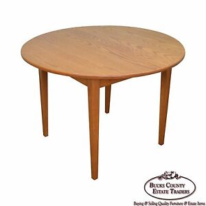 Image Is Loading Hunt Country Furniture Solid Oak Round Dining Table