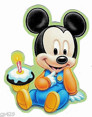 "3/""-6/"" Disney babies minnie first 1st birthday heat transfer iron on character"