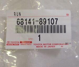 1984-88 TOYOTA TRUCK 4RUNNER FRONT DOOR GLASS CHANNEL RUN NO VENT  68141-89107