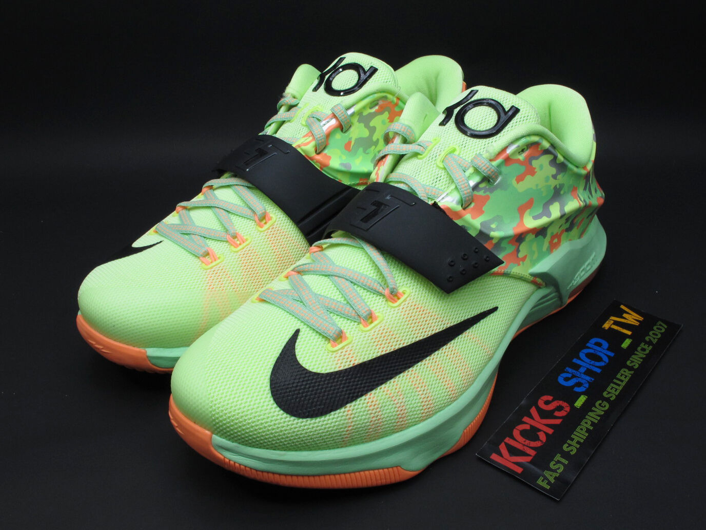 DS 2018 NIKE KD VII 7 EP EASTER LIQUID LIME 653997-304 KEVIN DURANT BASKETBALL best-selling model of the brand