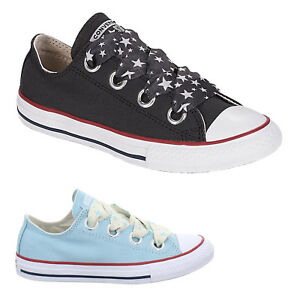 673c8326085f Converse Ctas Big Eyelets OX Canvas Low-top Fashion Sneakers Youth ...