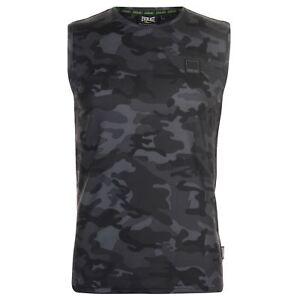 Tee-shirt-EVERLAST-sans-manches-noir-gris-034-Premium-034-S-au-XXL-Taille-petit