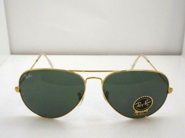 NEW Ray-Ban RB 3026 L2846 Gold Green Classic G-15 62 mm Sunglasses $193