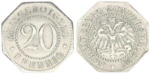 20 Pfennig Anhalt Weimarer Republik offizielles Notgeld Eisen ss-vz 54413