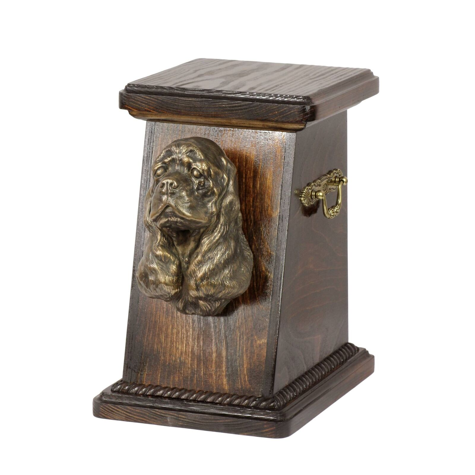 American Cocker Spaniel - exclusive urn for dog with statue, Art Dog type 2