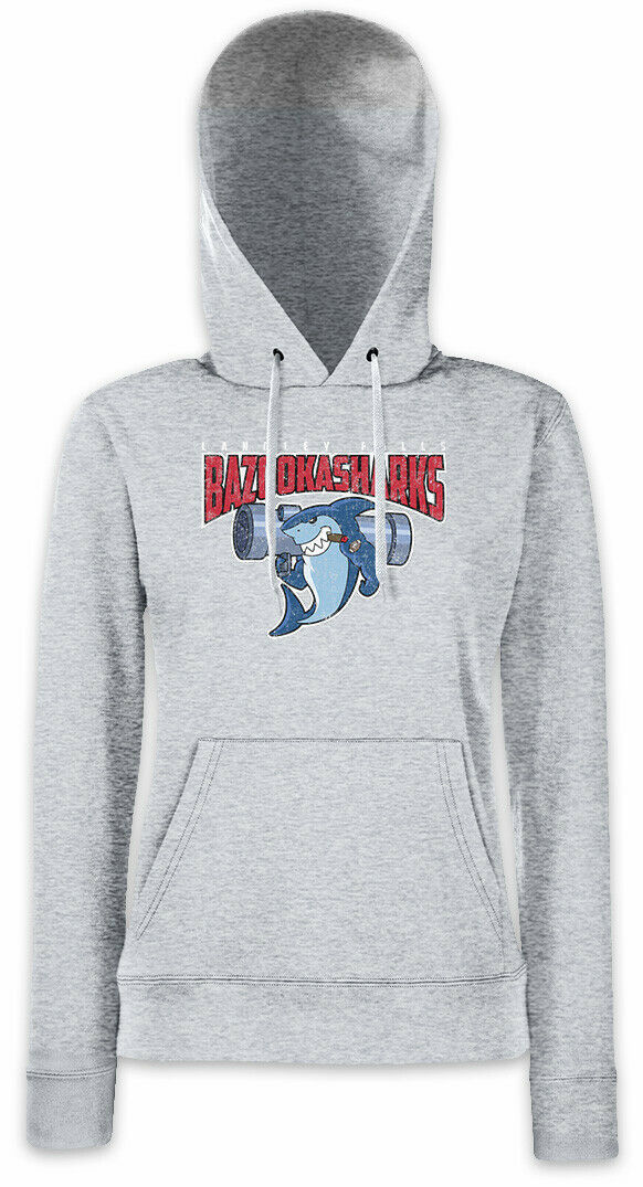 B Sharks Women Hoodie Sweatshirt American Langley Falls Team Bazooka Logo Dad