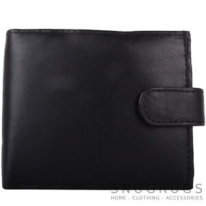 Mens-Gents-Genuine-Leather-Bi-Fold-RFID-Protected-Money-Coin-Holder-Pouch