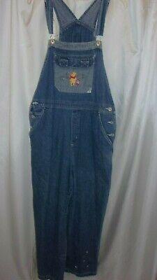 d4c4b7a4a15 Disney Winnie The Pooh Blue Jean Denim Bib Overalls Womens XL | eBay