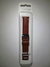 Genuine Samsung Gear S2 Watch Classic Band Brown Leather - ET-SLR73 - New!