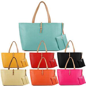 2pcs-set-Womens-Sling-Handbag-Shoulder-Tote-Purse-Satchel-Messenger-Bag-Gift-UK