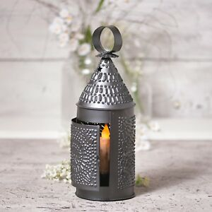 Baker's Lantern Taper Candle Primitive Home Decor Irvin's Country Tinware
