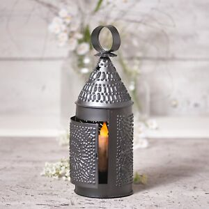 Baker-039-s-Lantern-Taper-Candle-Primitive-Home-Decor-Irvin-039-s-Country-Tinware