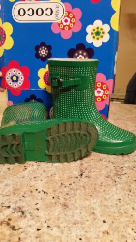 Unisex Rain Boots for Kids in Green