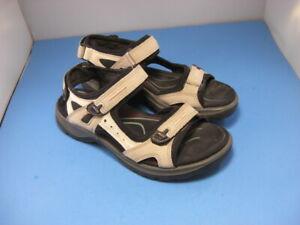 Ecco Yucatan Hiking Receptor Sandals Shoes Womens Size 39/8.5 Beige
