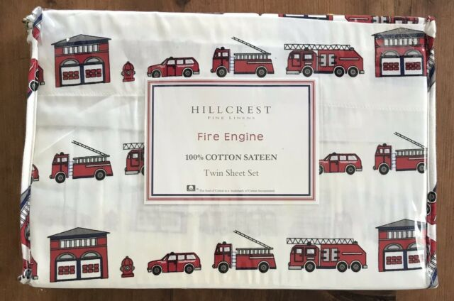 3 Piece Fire Engine Truck Sheet Set Twin