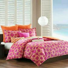 8(pc)Echo design King Duvet Catalina, 4 Standard Shams, All (3)Throws, Duvet