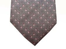 Battisti Tie Light gray with pink circular pattern, pure silk