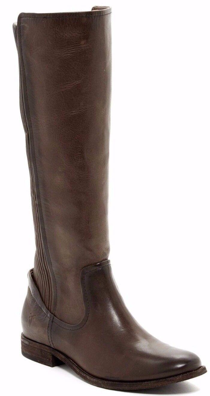 NIB  458 Frye Melissa Scrunch Tall Riding Knee High Boot Dark Brown Size 5.5