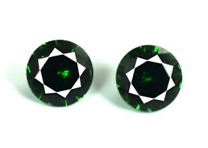 Green-Garnet-Gemstone-Pair-5-Ct-Natural-Transparent-Round-AGSL-Certified-2-Pcs