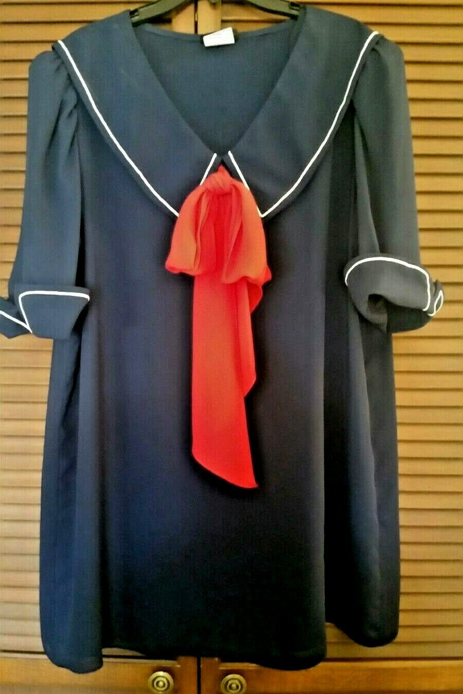 Nightworks Ladies Navy Top Weiß Skirt Nautical Sailor rot Weiß Blau Größe 20-22