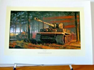 Tiger-Tiger-Panzer-Tank-Nicolas-Trudgian-Signed-Amour-Tank-Art-Print-Sold-Out
