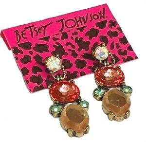 Betsey-Johnson-Crystal-Fashion-Stud-Earrings-US-Seller-Fashion-Jewelry