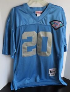 hot sale online 3bb7b b7b00 Details about Barry Sanders Detroit Lions Mitchell & Ness Throwback Jersey  94 - blue, Size 50