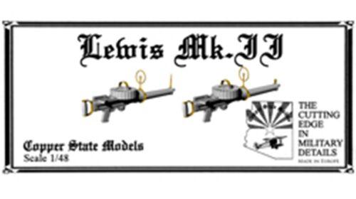 Copper State Models 1:48 Lewis Mk.2 MG Resin Detail Set #A48-145