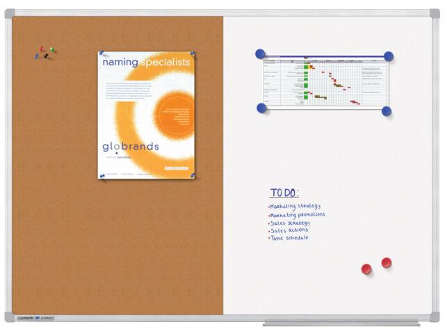 Legamaster Kombiboard Economia 60 x 90 cm, Combinazione di Whiteboard e Pinntaf