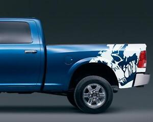 Skull Scream Bed X Vinyl Sticker Decal Fits To Ram  F - Skull decals for trucks