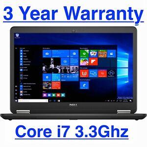 """Dell Latitude Laptop E7440 14"""" UltraBook Intel i7 2.10GHz 8GB 500GB Windows 10"""
