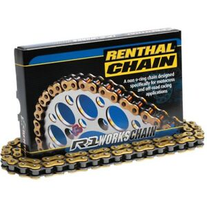 Renthal R1 428 MX Works Chain 130 Link For 2007-2011 KTM 105 SX