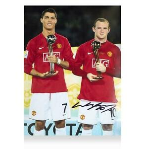 Wayne Rooney Signed Manchester United Photo: 2008 FIFA Club World Cup Golden Bal