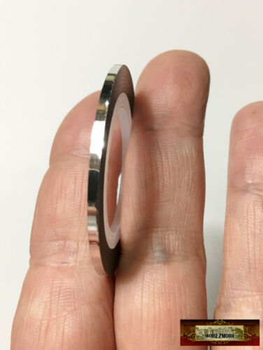 M00820-Silver MOREZMORE Thin 2mm Miniature Metallic Adhesive Stripe Tape Prop