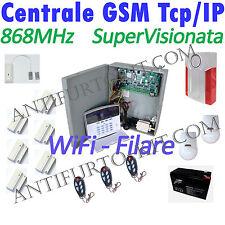 Kit Antifurto TCP IP Wireless Filare Centralina Allarme 868 Mhz Casa Ufficio GSM