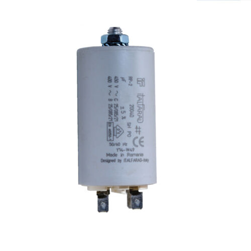 STUD TYPE WITH COVER MOTOR RUNNING CAPACITOR 10 MFD 450V RUN CAPACITOR