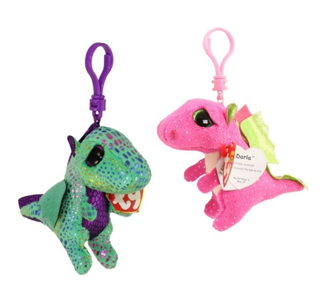"TY Beanie Boos 3/"" CINDER Dragon Key Clip Plush Stuffed Animal Collectible Toy"