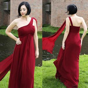 4db5d2b7fc9 UK Ever-Pretty Bridesmaid Dress One Shoulder Chiffon Ribborn Prom ...