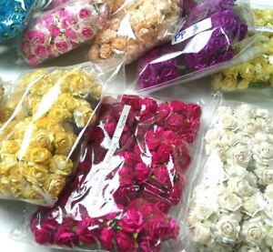 100 Rose Flower Mulberry Paper Wedding Scrapbooking Card Crafts 1.85-2.00cm