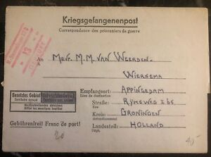 1940s-Germany-Stalag-12D-POW-Prisoner-of-War-letter-Cover-to-Groningen-Holland