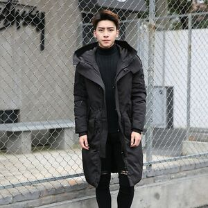 06ed9722b13c 2017New Men Winter Warm Duck Down Hooded Casual Jacket Trench Coat ...