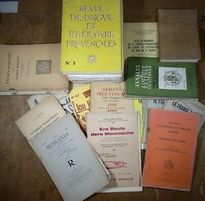 Lot-LINGUISTIQUE-ET-PHILOLOGIE-ROMANE-LITTERATURE-PROVENCALE-LANGUE-D-039-OC