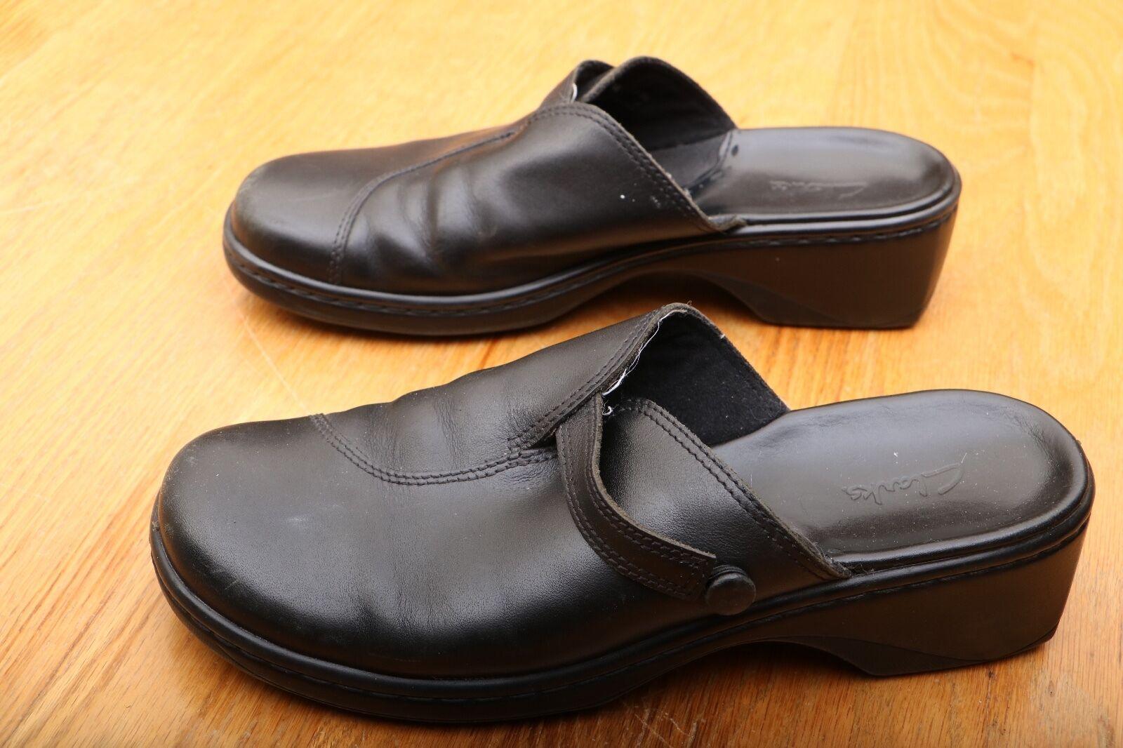 Clarks Black Mule Clogs Women's Size 7 M