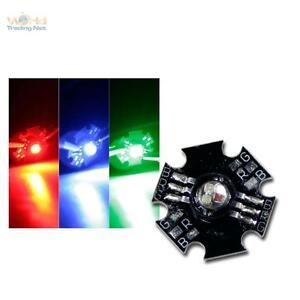 10-x-Highpower-RGB-LED-rot-gruen-blau-power-LED-FULLcolor-3W-auf-Star-Platine